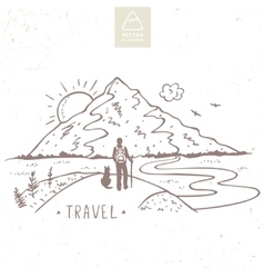 Mountain travel vector image