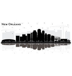 new orleans louisiana city skyline silhouette vector image