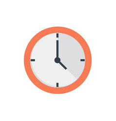 Office clock flat icon vector