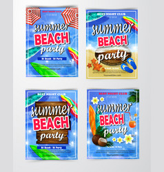 Poster for summer and beach party background vector