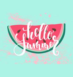 Print with watermelon the inscription vector