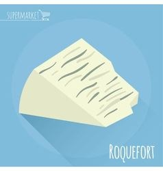 Roquefort cheese icon vector