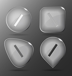 Ruler Glass buttons vector