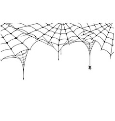 scary spider web background cobweb background vector image