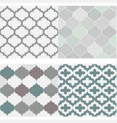 Set seamless moroccan tile pattern vector