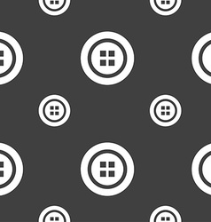 Sewing button sign Seamless pattern on a gray vector