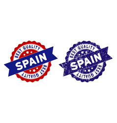 spain best quality stamp with dirty effect vector image