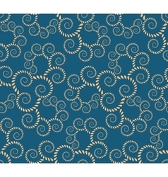Spiral seamless lace pattern Abstract twirl vector