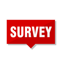 survey red tag vector image