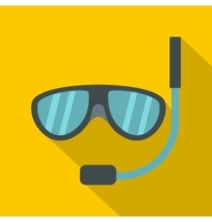 Swimming mask icon flat style vector image