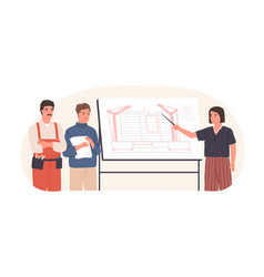 team architect construction engineer vector image