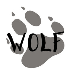 The paw print of a wolf vector