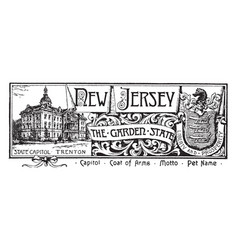 The state banner of new jersey the garden state vector