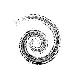 Tire track spiral vector
