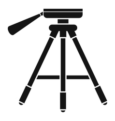 Tripod icon simple style vector