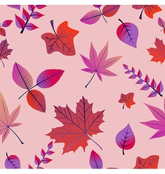 Vintage autumn leaves seamless pattern background vector image