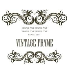 Vintage framing header and footer vector