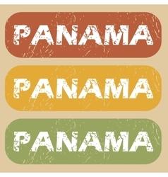 Vintage Panama stamp set vector