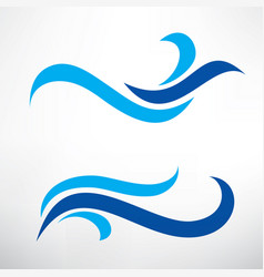 water wave set of stylized symbols design vector image
