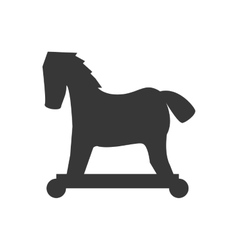 Wood horse icon Toy design graphic vector