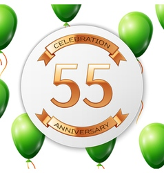 Golden number fifty five years anniversary vector