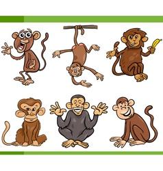 monkeys cartoon set vector image vector image