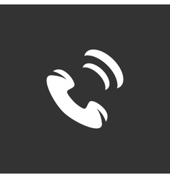 Phone icon logo element for template vector