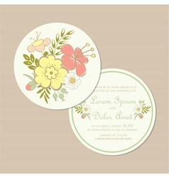 round spring wedding invitation card vector image vector image