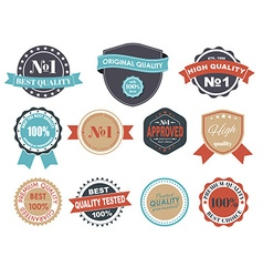 Design labels with the quality mark vector image vector image