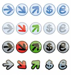 funny up and down symbols vector image