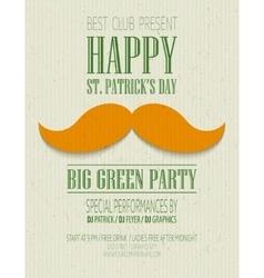 St Patricks Day retro poster vector image