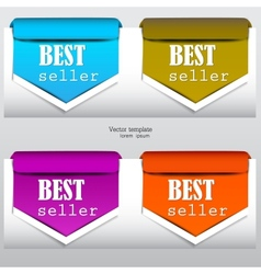 bookmarks bestseller vector image