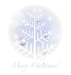 Christmas greetings postcard vector image vector image