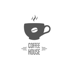 Coffe house design vector image