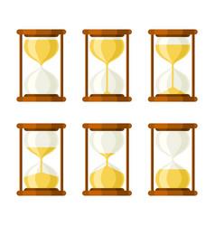 hourglass retro icons set vector image vector image