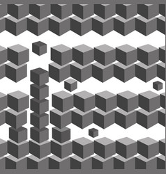 Black and white cube geometric background vector