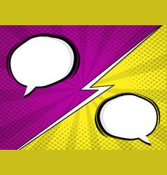 comic book pop art with blank speech bubble vector image