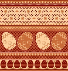 easter pattern seamless vector image vector image
