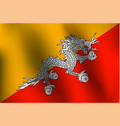 flag of bhutan - vector image