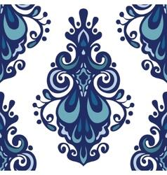Luxury Damask flower seamless pattern vector image vector image