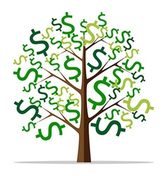 Money tree isolated vector image vector image
