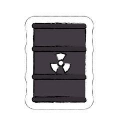 nuclear barrel icon vector image vector image