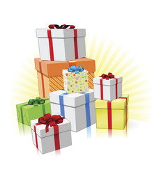 pile of presents concept vector image vector image