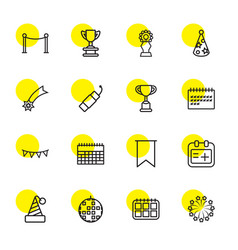 16 event icons vector