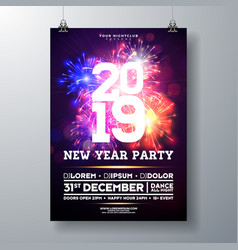 2019 new year party celebration poster vector image
