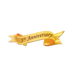 5th anniversary logo vector image