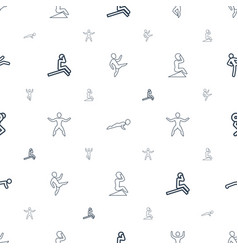 Abs icons pattern seamless white background vector
