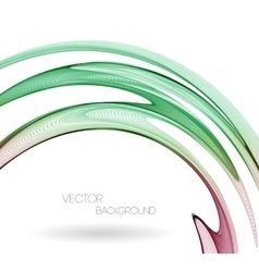 Abstract curved lines background Template vector image