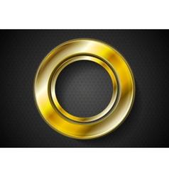 Abstract golden ring logo vector