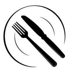 abstract logo of a cafe or restaurant a spoon vector image